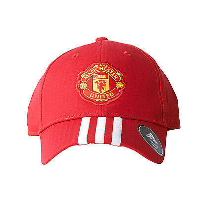 adidas 3 Stripe Manchester United Cap Red