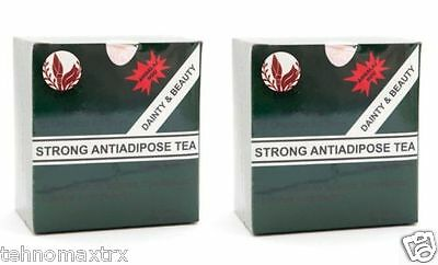 2 x STRONG ANTI - ADIPOSE TEA ; Detoxifying Laxative, Fast Weight Loss - 60 bags