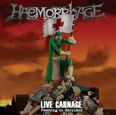 HAEMORRHAGE - Live Carnage - Feasting On Maryland LP  Repulsion Necrony Nasum