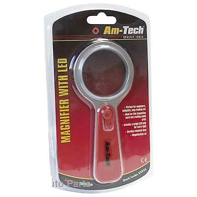 Magnifying Glass With LED Tool 5X Modeling Craft Kit Magnify