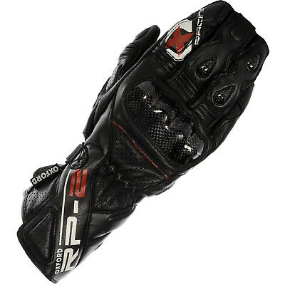 Oxford RP-2 Summer Leather Sports Motorcycle Gloves Tech Black