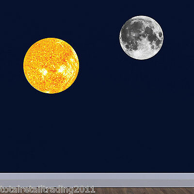 Sun and Moon Wall Sticker Pack - Space Wall Stickers