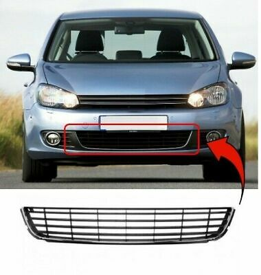 Vw Golf Mk6 2009-2012 Front Centre Bumper Grille Chrome Brand New High Quality