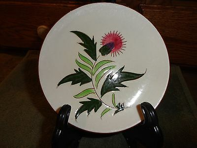 """Stangl Pottery Three 6"""" Bread And Butter Plates - Thistle Pattern"""