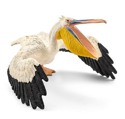 Schleich 14752 Pelican Toy Wild Louisiana Bird Animal Figurine Model 2016 - NIP