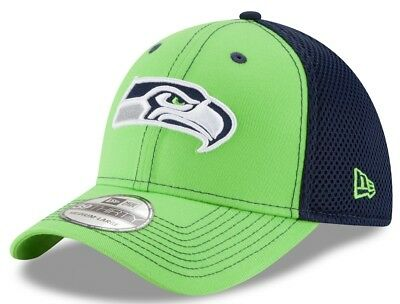 quality design e17bd cf4c6 ... ebay seattle seahawks new era nfl 39thirty team front neo flex fit hat  a7c72 6b725