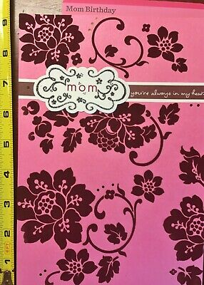 6   MOTHER BIRTHDAY XL CARD MOM Happy Birthday hALLMARK Choice of 15 NEW W/ENV