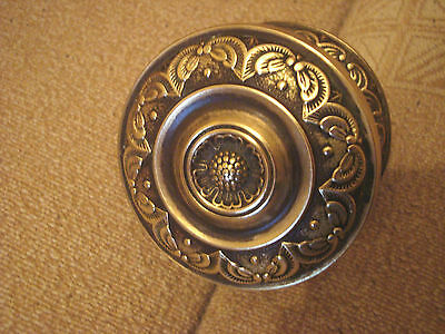Greece vintage solid brass detailed large door knob handle pull & push only -D30