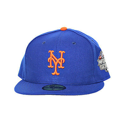 8e63da34c17 ... clearance new era new york mets 59fifty fitted hat 2015 world series  patch cap blue orange