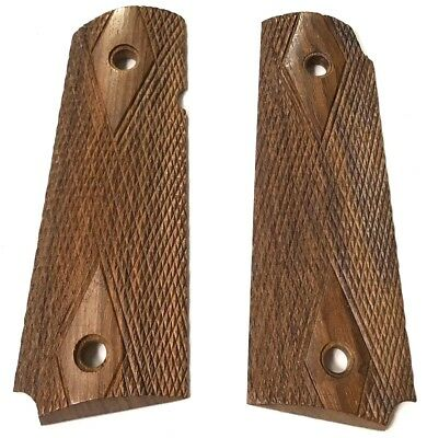WWII US ARMY INFANTRY AIRBORNE m1911A1 .45 WOODEN PISTOL GRIPS-REPLACEMENT