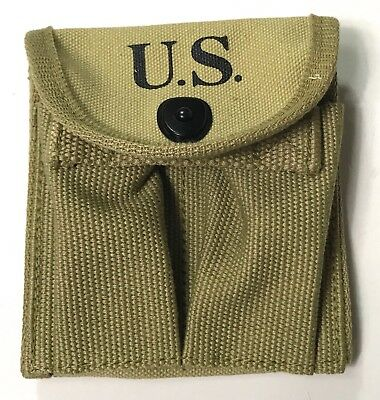 Wwii M1 Carbine Rifle 15Rd Butt Stock Ammo Pouch-Od3