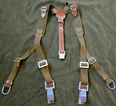Wwii German M1942 M42 Web/leather Type 3 Combat Y-Straps