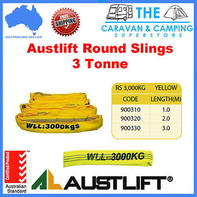 Austlift 3 TONNE Round Lifting Sling Various Lengths 100% Polyester