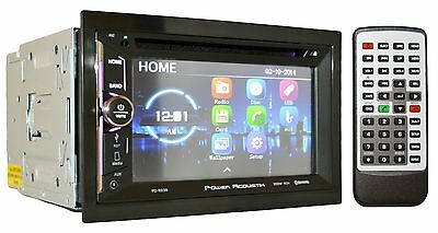 """Power Acoustik Double Din CD DVD 2Din In-Dash 6.5"""" Bluetooth Car Stereo PD-623B"""
