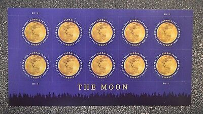 2016USA #5058 Global Forever Rate - The Moon - Sheet of 10  Mint  postage sase