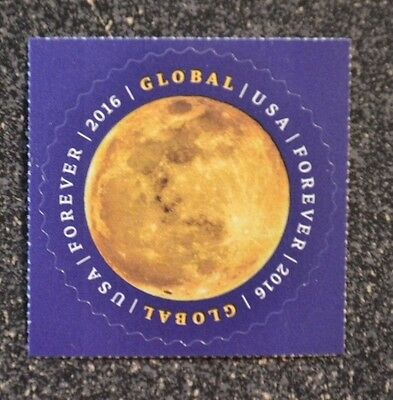 2016USA #5058 Global Forever Rate - The Moon - Single  Mint (international sase)