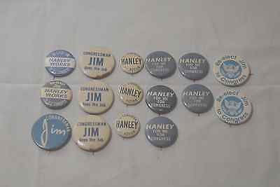 Jim Hanley Congress Campaign Buttons Syracuse Ny