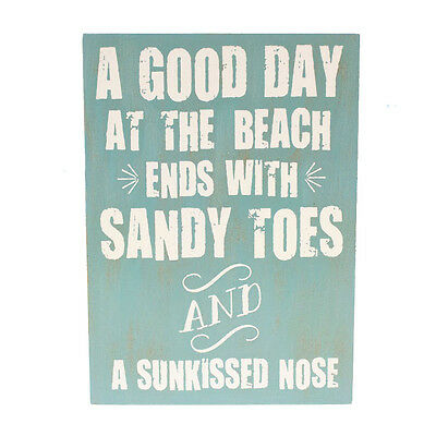 Sunkissed Nose Nautical Wall Art Wood Sign Plaque Coastal Beach Decor