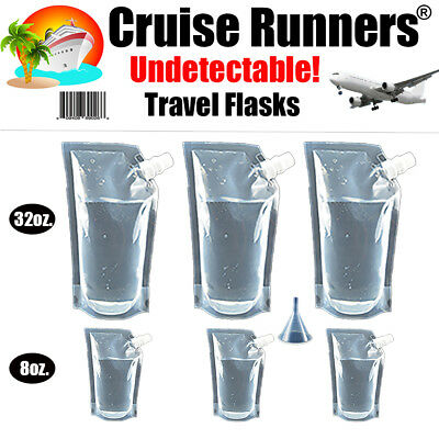 Cruise Flask Kit 7 Pc. Rum  Runners Sneak Smuggle Alcohol Liquor Wine Booze