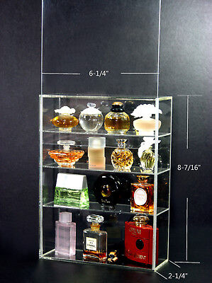Clear Acrylic Display box show case sliding door MINI Perfume bottle collectible