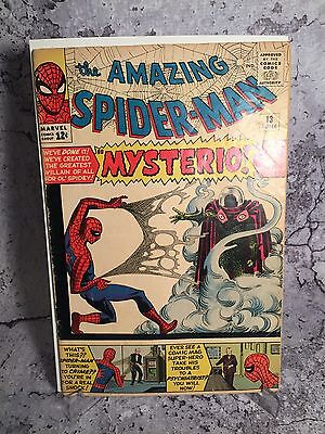 Amazing Spider-Man # 13 First Mysterio 1st Appearance Raw Ungraded
