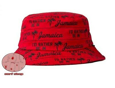 0e8a6edaae5 NEW STUSSY JAMAICA Red Bucket Cap Hat -  28.95
