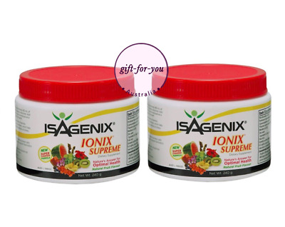 Isagenix Ionix Supreme Powder 2xCanister POWERFUL FORMULAR Energy Weight Loss