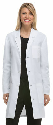 Dickies Adult Long Sleeve Button Front Back Waist Belt Lab Coat. 83402AB