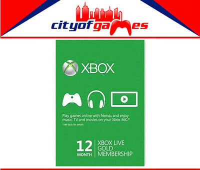 12 Month Xbox Live 1 Year Gold Membership Subscription Code