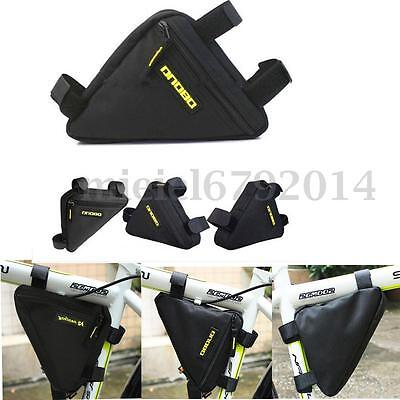 Cycle Bike Front Frame Pannier Tube Zipped Triangle Bag Pouch Head Pipe Toolkit