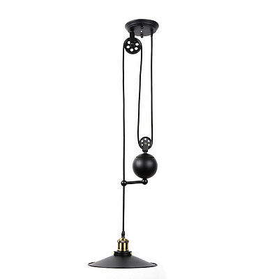 Retro Pendant Lamp Droplight Edison Loft Industrial Pulley Lamps Light Home DIY