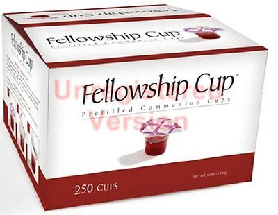 Communion-Set-Fellowship Cup Juice/Wafer-250 Sets, New, Free Shipping
