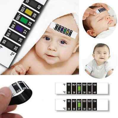 Kids Baby Child Forehead Head Strip Thermometer Fever Temperature Test