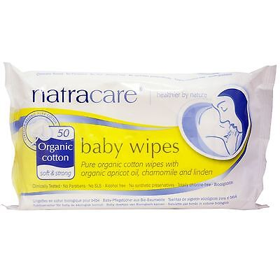 Natracare Organic Baby Wipes 50 Wipes