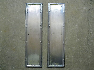 Pair Original Reclaimed Pewter Finger Plates FP22