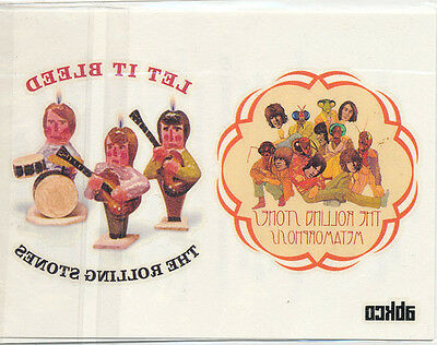 The Rolling Stones MEGA RARE Abkco Records Titles Temporary Tattoos (In Plastic)