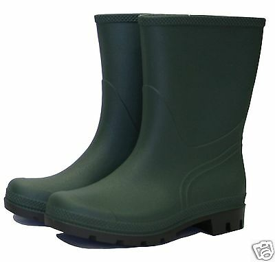 Town & Country Originals Half Length Green Wellington Boots Size 4 5 6 7 8 9 10