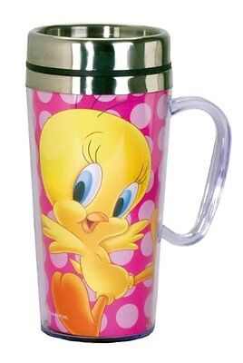 Looney Tunes Tweety Insulated Travel Mug, Pink, New, Free Shipping