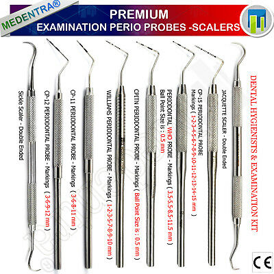 Dental Color Pocket Depth Periodontal Probes Scalers Williams Sickle Scaler Lab