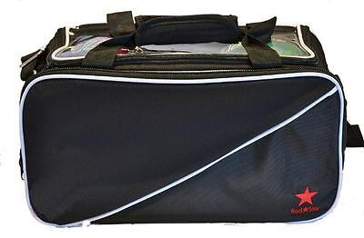 Red Star Double Tote Black bag - takes two tenpin bowling balls and shoes