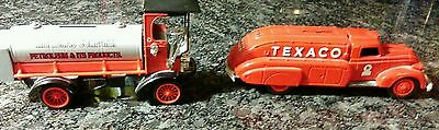 Lot of two1993 Ertl Texaco Cars Metal Bank