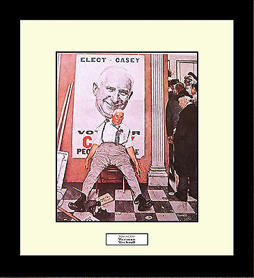 Norman Rockwell BEFORE AND AFTER Framed Election Politician Wall Art Gift