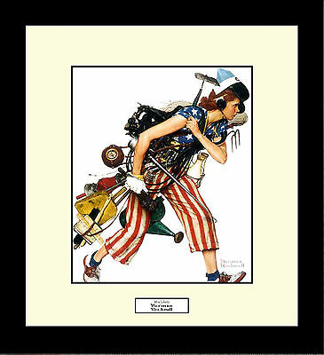 Norman Rockwell MISS LIBERTY Framed America Freedom Wall Hanging Art Gift