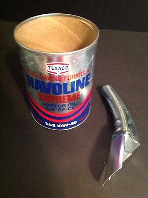Vintage Texaco Havoline Supreme Can With New Spout.