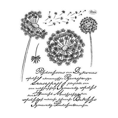 Viva Decor A5 Clear Silicone Stamps Set - Dandelion #107