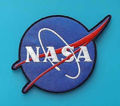 Ecusson (Patch) Brode / Thermocollant / Nasa / Taille 12,5 X 8,5 Cm