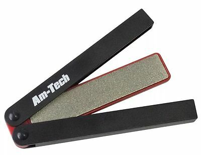 DOUBLE SIDED FOLDING DIAMOND SHARPENING SHARPENER FILE STONE - AmTech E2522