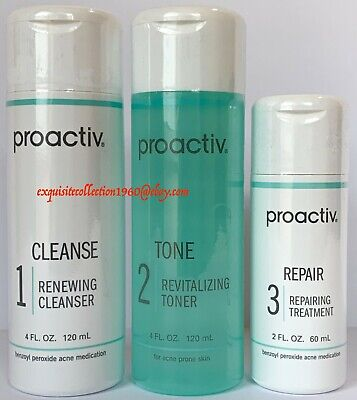 Proactiv 60 Day 3 Piece Kit Proactive 3-Step System Exp. 12/2019! NO AUTO RESHIP