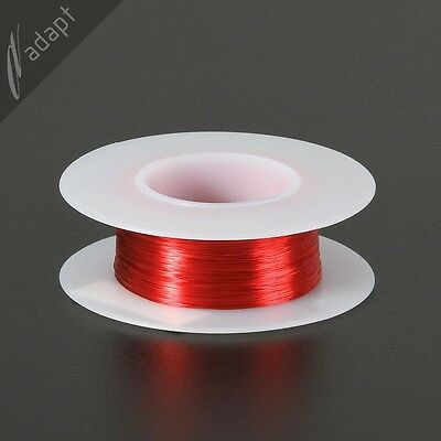 33 AWG Gauge Magnet Wire Red 388' 155C Solderable Enameled Copper Coil Winding
