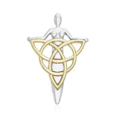 Danu Goddess Triquetra Sterling Silver Pendant by Peter Stone